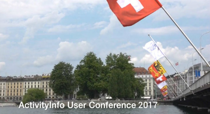 Screenshot of ActivityInfo User Conference 2017 small banner