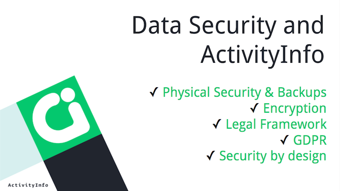 Data Security and ActivityInfo