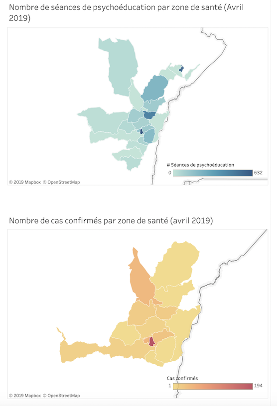 Psychosocial Support Dashboard - Mapping Ebola Response April 2019