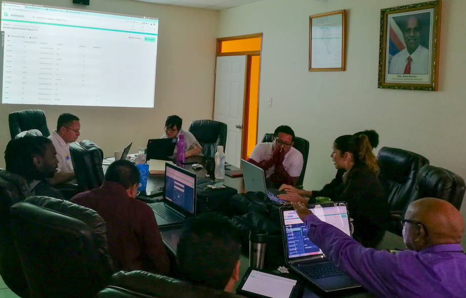Working with ActivityInfo during the five day training