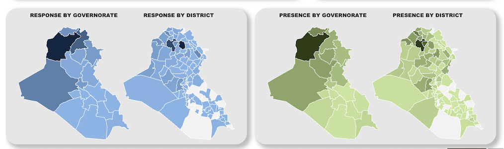 Response and Partner Presence by Governorate or District